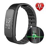 SLGJYY Image Activity Tracker mit Pulsmesser Für Frauen Männer Kinder Wasserdichte Fitness Watch Bluetooth Schlaf Tracker Kalorienzähler Armband W/Touchscreen