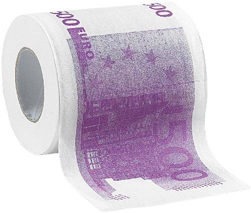 infactory Klopapier: Toilettenpapier mit aufgedruckten 500-Euro-Noten, 2-lagig, 200 Blatt (WC Papier)