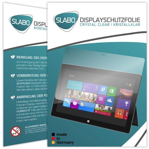 2 x Slabo Bildschirmschutzfolie Microsoft Surface Windows RT Bildschirmschutz Schutzfolie Folie