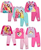 Picture Of Kids Girls Official Disney Princess Long Pyjamas Pj's Set 2 Piece Cuffed Bottom Trousers Size 1-5 Years