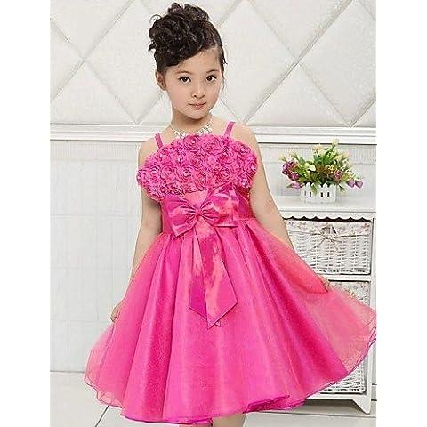 ZY/ Palloncino/Stile Principessa - Canotta - Cocktail - Flower Girl Dress ( Raso/Tulle ) , white , child-12