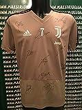 "582fdb237 JUVE Maglia Allenamento Beige ""Ronaldo 7"" Autografata F.C. Juventus 2018/ 2019"