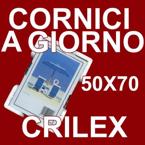 Cornice a Giorno 50x70 in Crilex Antinfortunistico, Ultra- Trasparente e Leggero