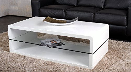 agionda Weiß Hochglanz lackiert Couchtisch Nomos 120 x 60 cm Exclusiver Designer Couchtisch
