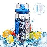 Best Botellas de infusión de frutas Deportes - Botella de Agua de Tritan de 900ml con Review