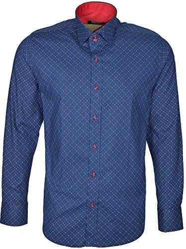 Dontali -  Camicia Casual  - Uomo Navy-Blue