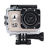 OverDose Mini 1080p Full HD-DV Sports Camcorder Car wasserdichte Tätigkeits-Kamera-Camcorder (Gold)