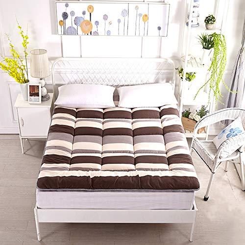 Futon materasso comfort tatami, coprimaterasso spesso, coprimaterasso premium tappeto tatami futon giapponese portatile, coprimaterasso trapuntato per dormitorio per studenti,d,150*200cm(59*78inch)