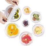 Silicone stretch coperchi riutilizzabile cibo copertura pu/ò essere appeso con 6-pack di varie misure da Rbideli