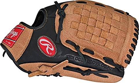 Rawlings Renegade 12 inch Baseball/Softball Glove - for left handed thrower (Infielders Glove)