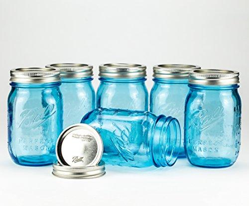 Oz 16 Jar Mason (Ball Mason Jar Heritage Collection 16oz Blau 6er/Set)