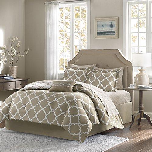 Madison Park Essentials Merritt komplett Bett und-Bettlaken-Set, taupe, Queen