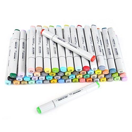 Art Alcohol Doppelspitze Marker Stifte 24/36/48/60/72 Farben Fineliner Zeichnung Marker Pen Set Breite Feine Punkt Für Malerei Highlighting von Finecolor(60 Farben) (Feine Punkt-marker Farbe)