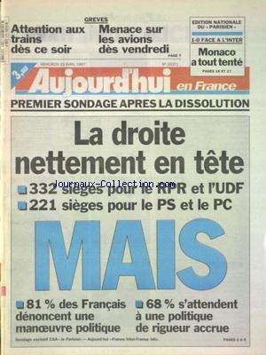 AUJOURD'HUI EN FRANCE [No 16371] du ...