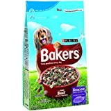Bakers Complete Dog Food Senior Tender Meaty Chunks Tasty Beef and Country Vegetables, 2.7 kg - Pack of 4