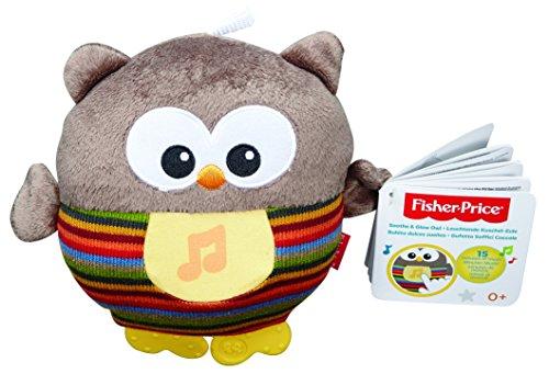 Fisher-Price Mattel CMT32 - Leuchtende Kuschel-Eule mit sanfter Musik, braun - Fisher Price 3 Stück