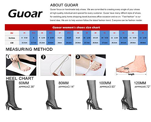 Guoar High Heels Damenchuhe Große Größe Pumps Zehenkappe Transparent Rutsch Stiletto Ballsaal Party Hochzeit A-Dunkelblau Samt