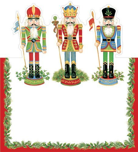 (8) - Place Card for Christmas Parties No Placecard Holders Needed 8 Placecards Tented & Die Cut Nutcracker