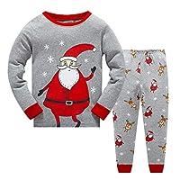 MIXIDON Kids Boys Christmas Pyjamas Set Nightwear Sleepwear Long Sleeve PJS 2 Piece Outfit
