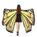 Vectry Halloween Cosplay Frauen/Damen Neuheit Feenhafte Nymphe Pixie Karneval Zubehör Weihnachten Cosplay Kostüm Zusatz, Gedruckt Weiche Gewebe Schmetterlings Flügel Butterfly Cape Schal Wrap Kimono