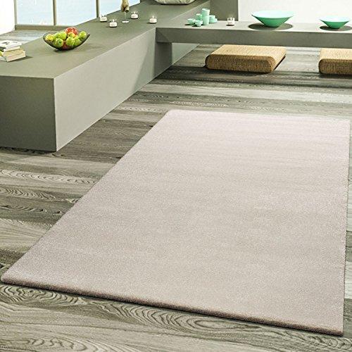 Teppich Wohnzimmer Designer Teppiche Hochwertig Frieze Schimmer Optik In Creme, Größe:160x230 cm (Frieze-teppich)