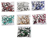 #5: Am Drop Shape Crystal Edged Stones/Kundans For Jewellery Making/Decorating & Crafts. Pack Of 700 Stones (7 Colors)
