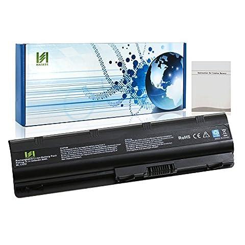 HASESS Batterie d'Ordinateur Portable avec 6 Li-ion Japonais Cellules 11.1V 5200mAh/58WH pour HP Compaq Presario CQ32 CQ42 CQ43 CQ430 CQ56 CQ62 CQ72 séries Envy 17H; HP Notebook PC G32 G42 G42T G56 G62 G72 G4 G6 G6T G7 remplacé MU09 593553-001 593554-001 WD548AA HSTNN-CBOW - 12 Mois de Garantie
