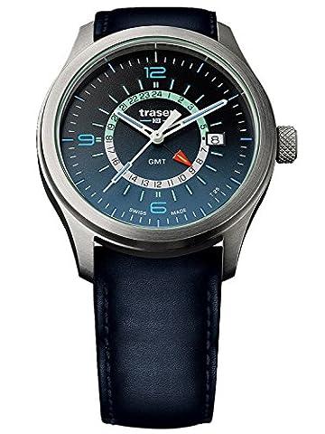 traser H3 Herrenuhr P59 Aurora GMT Blue Lederband 107035