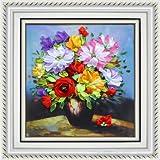 40x50cm 3D Silk Ribbon Flowers of Spring Cross Stitch Kit Embroidery DIY Handwork Home Decoration