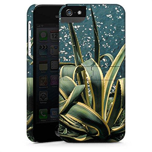 Apple iPhone X Silikon Hülle Case Schutzhülle Kaktus Ufer Blätter Premium Case StandUp