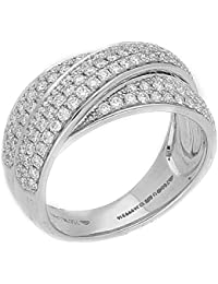 Manubhai Jewellers 18KT White Gold And Diamond Ring For Women
