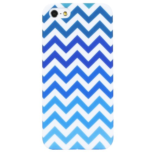 Fosmon MATT Rubberized Cheveron Entwurf case Apple iPhone 5 / iPhone 5s / iPhone SE - Blau blau