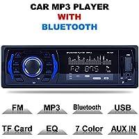 Autoradio Bluetooth, CompraFun Manos Libres Radio Estéreo de Coche, Apoyo de Reproductor MP3, Llamadas Manos Libres, Función de Radio, y de Archivo.