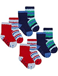 3 Pairs Baby Boys Socks Trainer Design Socks Pack Of 3 0-0 0-2.5 3.5-5 44B646