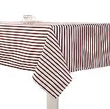 YOUJIA Gestreift Tischdecke Simpel Gartentischdecke Pflegeleicht Tischtuch Tischwäsche für Couchtisch, Esstisch (Rot #Gestreift, 60*60cm)
