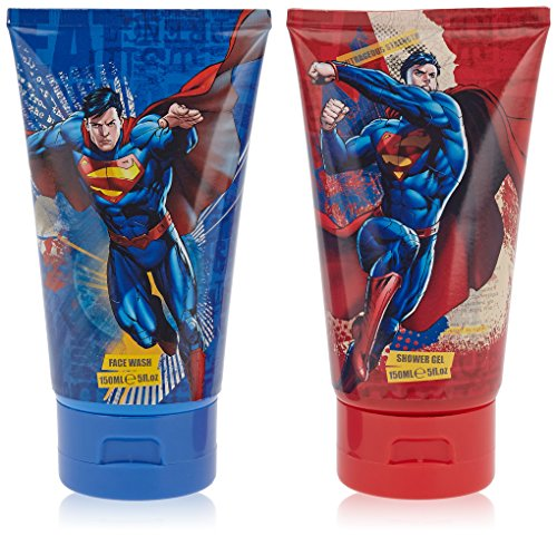 Superman Set unisex, Duschgel 150 ml, Gesichtswasser 150 ml, 1er Pack (1 x 300 ml)