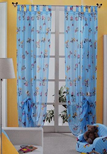 Funda Nordica Mickey Y Minnie 150.Disney Id955 Rideau Minnie Et Mickey Mouse Confectionne Avec Passants 140 X 290 Cm Bleu Ciel