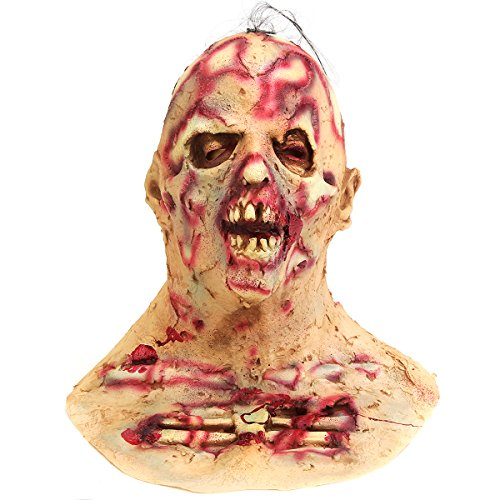 WCHAOEN Halloween Scary Infected Zombie Erwachsenenmaske Melting Face Latex Horror Kostüm - Ersatzteile Kostüm