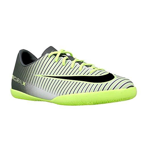 Nike JR MERCURIALX VAPOR XI IC - Baskets pour enfants, Argenté, 27.5