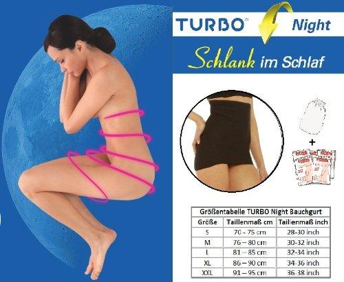 TURBO Night Bodyforming Bauchgurt mit ActiCreme + Peelingshandschuh - schlaf dich schön! TN83020-2XL9