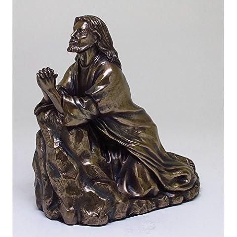 6Inch Gesù in preghiera nel giardino statua religiosa figurine
