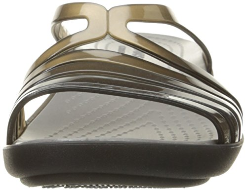 Crocs Isabella Mini Wedge W Sandali con Plateau e Zeppa, Donna Nero (Black/Smoke)