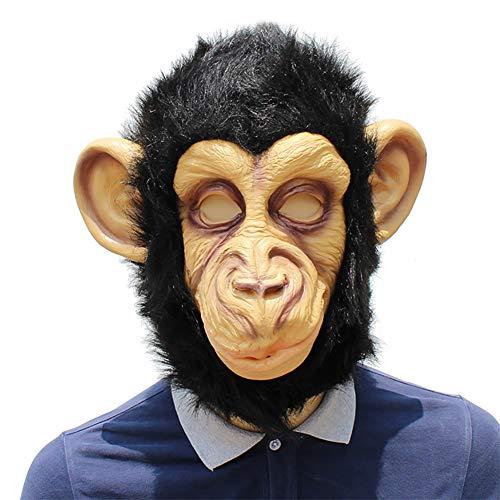 een Kostüm Latex Lustige Gorilla Maske, Tiermasken Erwachsen Karnevals Thema Partys Perfekt Für Fasching, Karneval & Halloween,Black ()