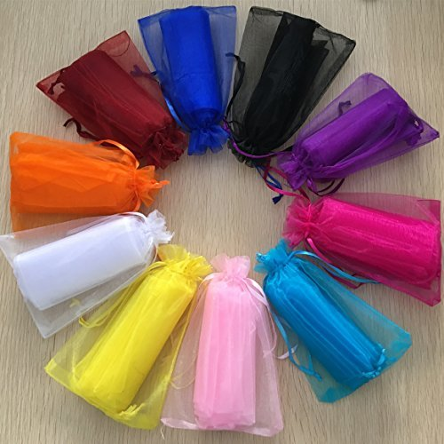 100pcs 4 x 6''/10 x 15cm Organza Bags Drawstring Pouches Pearl Gauze Bags Party Wedding Favor Gift Bags