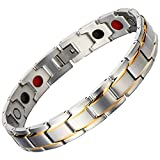 #8: ABHISTA Magnetic Therapy (4 Elements) 316L Stainless Steel Bracelets for Men And Boys.