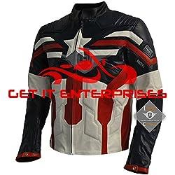Chaqueta de moto del Capitán América, de la marca GIE