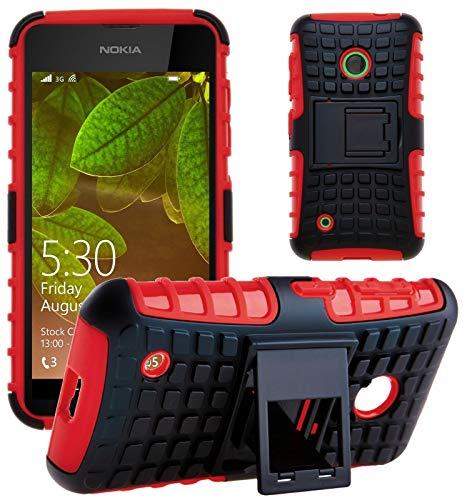G-Shield Hülle für Nokia Lumia 530 Stoßfest Schutzhülle mit Ständer - Rot