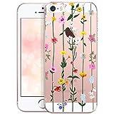 OOH!COLOR Case Compatible pour iPhone 5, iPhone Se, Coque iPhone 5S Transparente...