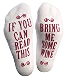 """Luxury Combed Cotton """"Bring Me Some Wine"""" Socks - Perfect Hostess or Housewarming Gift Idea, Birthday Present, or Gift For A Wine Lover"""