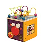 B toys – Underwater Zoo Wooden Activity Cube – BPA Free Toddler Activity